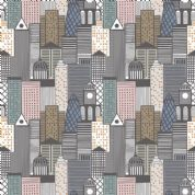 Lewis & Irene - City Nights - 6025 - City Scape Multi-Coloured (Metallic)  - A291.3 - Cotton Fabric